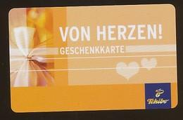 GERMANY Geschenkkarte Tchibo - Von Herzen - Siehe Scan - 10720 - Deutschland