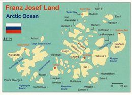 1 Map Of Franz Josef Land * 1 Landkarte Mit Der Russischen Inselgruppe Franz Josef Land * - Maps