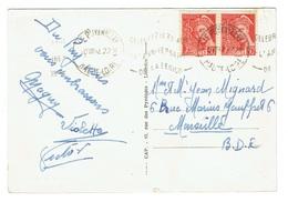 HAUTE LOIRE 43 LE PUY EN VELAY Flamme CELEBREZ LE 30 AOUT L'ANNIVERSAIRE DE LA LEGION CP Affr 2 X 30 C Mercure 412 TTB - Postmark Collection (Covers)