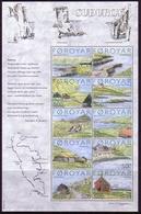 FÄRÖER MI-NR. 473-482 ** KLEINBOGEN INSEL SUOUROY - Faroe Islands