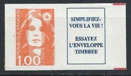 France YT Adhésif 8a XX / MNH Double Barre Rouge - Adhésifs (autocollants)