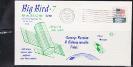 SPACE  - USA-  1973 BIG BIRD  7 ILLUSTRATED   COVER WITH VANDEBERG  POSTMARK NOV 10 1973 - Covers & Documents