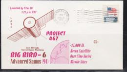 SPACE  - USA-  1973 BIG BIRD  6 ILLUSTRATED   COVER WITH VANDEBERG  POSTMARK JUL 13  1973 - Covers & Documents