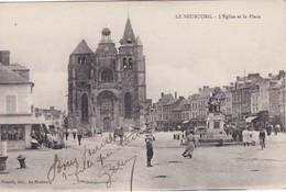 LE NEUBOURG - L'Eglise Et La Place - Animé - Le Neubourg