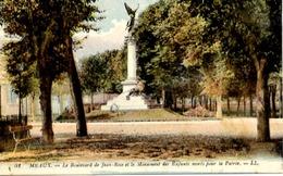 77 MEAUX - Le Boulevard Jean Rose Et Le Monument Des Enfants Morts Pour La Patrie - LL 51 - Couleur - Meaux