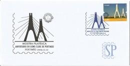 Selo E Carimbo Comemorativo Ponte Portimão Brücke Pont Bridge Puente Algarve Portugal Obliterátion Postmark Lions - Puentes