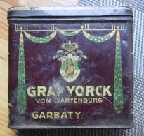 Old GARBATY  Cigarette   Metal Tin Box 1920 / 30s - Contenitori Di Tabacco (vuoti)