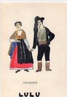 FOLKLORE 83 ; Costumes Italiano Calabre - Costumi