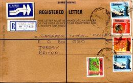 ZIMBABWE. Belle Enveloppe Ayant Circulé En 1989. - Zimbabwe (1980-...)