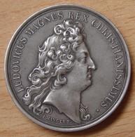 Médaille Louis XIV Argent Par Dubois Après 1880 - Professionals / Firms