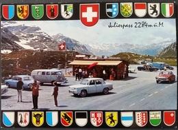 Ak   Schweiz - Julierpass  - Wappen - Auto - GR Graubünden