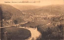 Trois-Ponts  Panorama Et Confluent De L' Amblève Et La Salm    X 4567 - Trois-Ponts