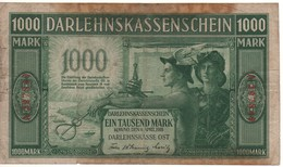 GERMANY  1'000 Mark  PR134a  ( Darlenkassenschein )  Dated 4.4.1918   VF - Eerste Wereldoorlog