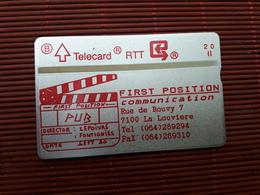 P 26 First Position 009 A 00273 Low Number (Mint,Neuve) Rare - Belgique