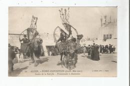 ALGER 20 FOIRE EXPOSITION (AVRIL MAI 1921) SOUKS DE LA KABYLIE PROMENADE A CHAMEAUX  (ANIMATION) - Algeri
