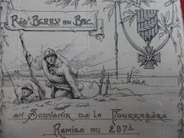 SOUVENIR DE LA FOURRAGERE REMISE AU 287 REGIMENT - Documents