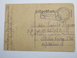 1917 , SAAR - BUCKENHEIM, Klarer Stempel Auf Feldpostkarte - Duitsland