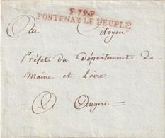 Vendée - P.P. De FONTENAY LE PEUPLE Connu De 1794 à 1801 - Postmark Collection (Covers)