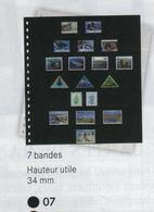 Paquet De 10 Feuilles OMNIA 07 Noires Lindner  à Moins 50 % - Albums & Reliures