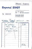 Facture Petit Format 1968 / 88 MIRECOURT / Pâtisserie Confiserie Raymond RIVOT - France