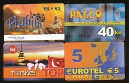 4 Verschiedene Prepaidkarten  - Siehe Scan - 10732 - Other - Europe