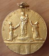 Médaille Jeanne D'Arc En Vermeil Signé DROPSY - Professionals / Firms