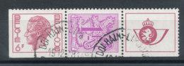 1892c Timbres De Carnet Se Tenant (o) - Belgique