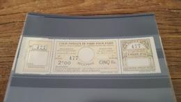 LOT 423352 TIMBRE DE FRANCE NEUF** LUXE POSTAUX DE PARIS N°140 VALEUR 60 EUROS - Parcel Post