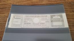 LOT 423357 TIMBRE DE FRANCE NEUF** LUXE POSTAUX DE PARIS N°98 VALEUR 50 EUROS - Parcel Post
