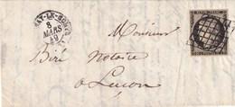 Vendée - FONTENAY Le COMTE - Type 15 Du 8 Mars 1849 - Oblitération Grille - Postmark Collection (Covers)
