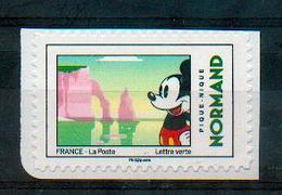 France 2018 - Mickey, Falaises D'Etretat, Seine Maritime, Normandie / Etretat Cliffs, Normandy - MNH - Geography