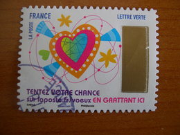 France  Obl  N° 1497 Cachet Rond Noir - France