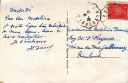 1941 - CPA Avec CàD Courrier Convoyeur Ligne De Sète à Narbonne (pothion Indice 4) - FRANCO DE PORT - 1921-1960: Moderne