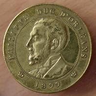 Médaille PHILIPPE DUC D'ORLÉANS / 3 ème République 1899 - Professionals / Firms