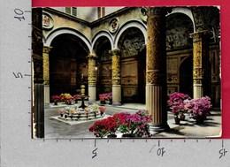 CARTOLINA VG ITALIA - FIRENZE FIORITA - Cortile Di Palazzo Vecchio - 10 X 15 - ANN. 1963 - Firenze
