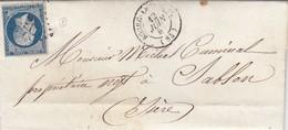 LETTRE. 12 JUIN 57. LOIRE BOURG ARGENTAL. PC 467 POUR SABLON ISERE - Marcophilie (Lettres)