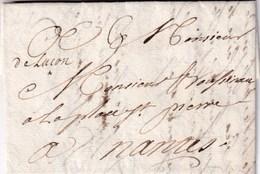 """Vendée - LUÇON - Marque Manuscrite """"de Luçon"""" De 1741 - Postmark Collection (Covers)"""