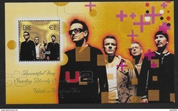 Irlande 2002 Bloc N°44 Neuf Chanteurs De Rock Irlandais, Groupe U2 - Blocks & Sheetlets