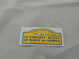 ADESIVO 13 FABARIA RALLY DEI TEMPLI - Stickers