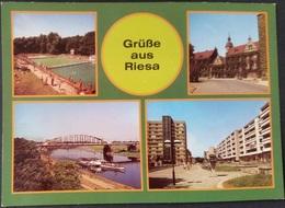 Ak DDR - Riesa - Stadtansichten - Wappen - Riesa