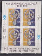 SCOUTING EMBLEM , ROMANIA  , BF X4 ,IMPERFECT, Die 2-TE  NATIONALE JAMBOREE HERMANNSTADT  SIBIU 1932, RARRE - Scoutismo