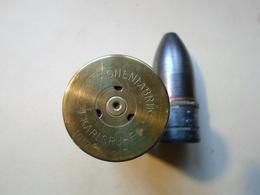 RARE 37MM ALLEMAND 1917 INERTE POUR CANON REVOLVER - Decorative Weapons