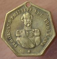 Médaille Ferdinand Philippe Duc D'Orléans 1842 - Professionnels / De Société