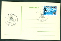Croatia 1992 Germany Berlin Promotion Commemorative Cancel Of C. Post (#2) On Exhibition Abroad Letter Cover Stationery - Croatia