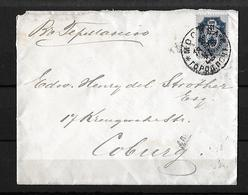 1896 Russia → 10 Kop Blue On Moscow Town Post Cover To Coburg, Germany - 1857-1916 Imperium