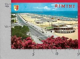 CARTOLINA VG ITALIA - RIMINI - Lungomare E Spiaggia - 10 X 15 - ANN. 1975 - Rimini