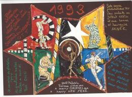 20784 - Cirque Série Rolf Knie 1992 Oblitéré Sur Feuillet Loveresse Village Natal De Grock 25.08.1992 - Stamps