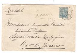 JS555/ Guerre-Oorlog 14-18 TP 141 S/L.c.Ste Adresse Postes Belges 1916 V.Député Belge Au Brésil Rio De Janeiro - Other Zones