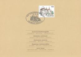 20785 - Georges Simenon 1er Jour Suisse Sur Feuillet Echandens-Denges 15.10.1994 - Emissions Communes