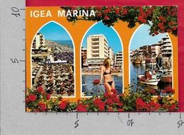 CARTOLINA VG ITALIA - IGEA MARINA (RIMINI) - Vedutine Multivue Pin Up - 10 X 15 - ANN. 1984 RIVIERA ROMAGNOLA - Rimini